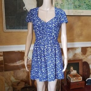 Anthropologie Leifnotes Sweetheart Blue Romper